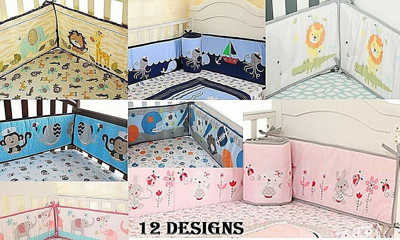 Baby Crib Bumper Safe Pads Boy Girl Choose Style Thicker Padding Many Designs Baby