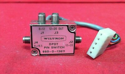 Wiltron 660-d-13611 Anritsu Dpdt Pin Switch. 8-26.5 Ghz