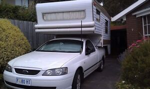 Franklin Camper With Ford Ute Lindisfarne Clarence Area Preview