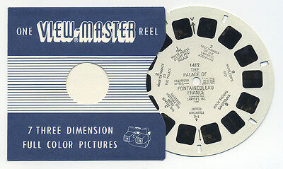 Palace of Fontainbleau France 1953 Belgium-made ViewMaster Single Reel 1412