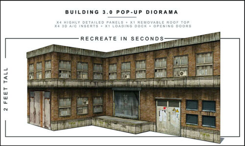 """Extreme-Sets Building 3.0 Pop-Up Diorama 1/12 Scale for 6""""-7"""" Action Figures"""