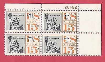 U.S. SCOTT C58 MNH PLATE BLOCK OF 4 - 1960 STATUE OF LIBERTY - FREE SHIPPING