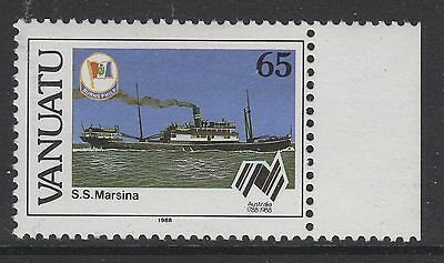 VANUATU SG499w 1988 65v AUSTRALIAN SETTLEMENTS WMK CROWN TO RIGHT OF CA MNH