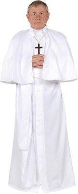 ADULT POPE RELIGIOUS WHITE ROBE SASH CAP COSTUME UR28161 - Pope Robes