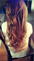 Hot fusion hair extensions!