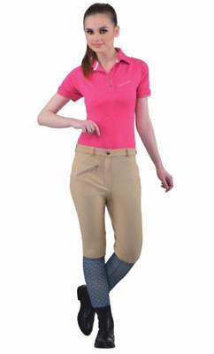 TUFFRIDER WOMENS PRO RIBBED HORSE RIDING BREECHES PANTS TAN OR WHITE OR - Horse Riding Pants