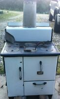 Antique Ceramic Wood Cookstove