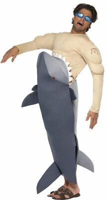Hungriger Hai Kostüm NEU - Herren Karneval Fasching Verkleidung - Herren Hai Kostüm