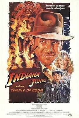 Indiana Jones Movie Poster   Temple Of Doom Style B 27X40 Harrison Ford Struzan