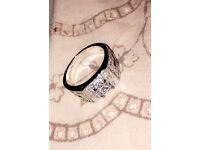 Mens 18k diamond cubic zirconia ring + Postage