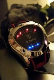 Detomaso Compasso binary watch