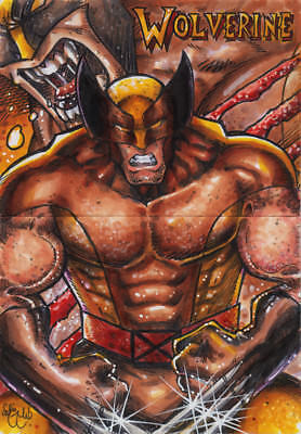 WOLVERINE 2 Sketch Card Puzzle Original Art CHRIS MCJUNKIN LOGAN DISCOUNTED](Discount Puzzles)