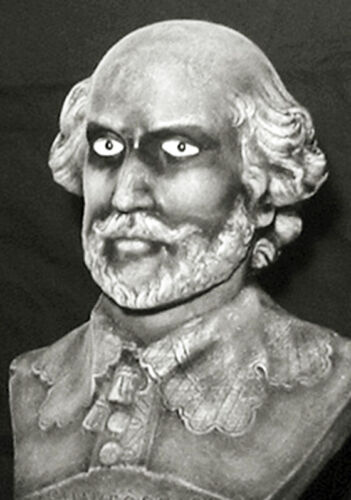 """HAUNTED Gothic Bust """"EYES FOLLOW YOU"""" Mansion House Halloween Shakespeare"""
