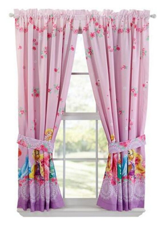 GIRLS BOYS WINDOW CURTAINS DRAPES WITH MULTIPLE DISNEY CHARACTERS ...