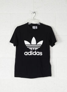 Adidas Originals Trefoil Tee T-shirt Donna Nera 42 Nero