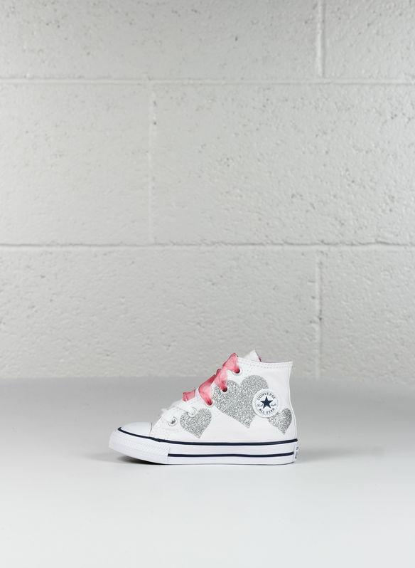 b11e96637f2e4f Sneakers alta Bambina Converse 660971c Primavera/estate Bianco/rosa ...