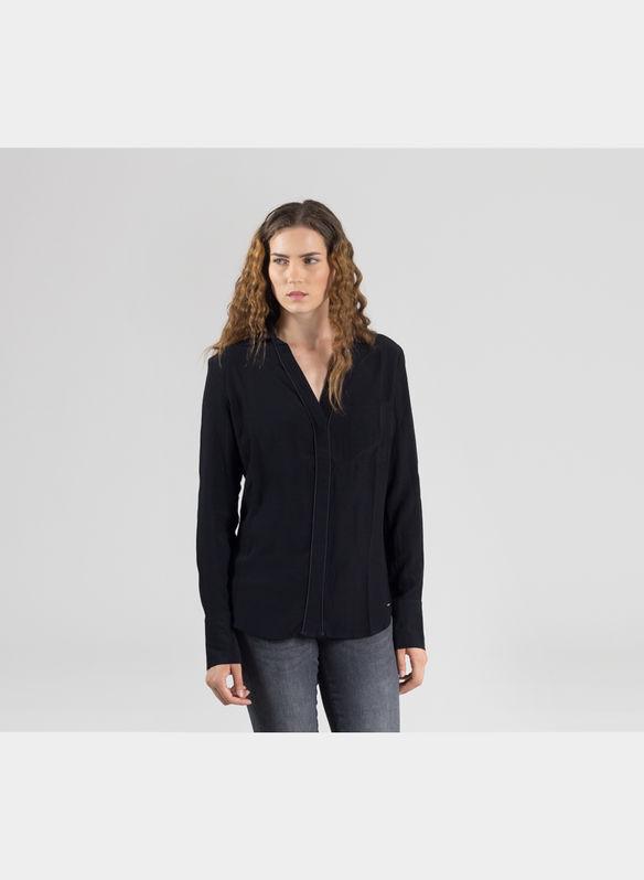 taglia dgo Donna Guess Ls Ebay jet Nero Anja Camicia Black Large wzOqqTxH8