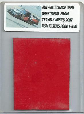 TRAVIS KVAPIL NASCAR RACE USED SHEET METAL PIECE 2007  K&N FILTERS CAR N-44