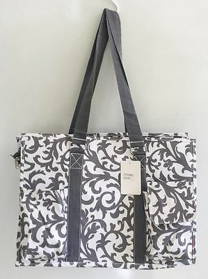 Gift Bag Organizer (Multi Pocket Organizer Tote Bag Nurses Teachers Love Them! Canvas Handbag)