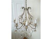 Crystal Chandelier in Antiqued Brass 8 Lights