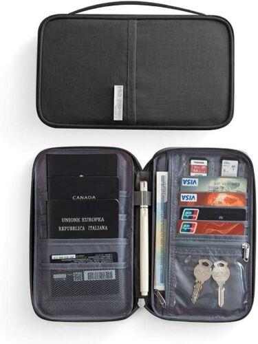 Fullgaden Premium Travel RFID Blocking Wallet Passport Holder