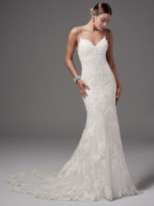 *Never Worn/Altered Sz- 2 Maggie Sottero, All Ivory Wedding Gown