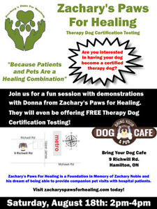 Free Event: Therapy Dog Certification Testing!