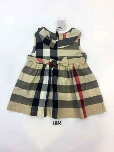 NEW Burberry Check Plaid Tan Beige Dress Kids Girls Baby skirt