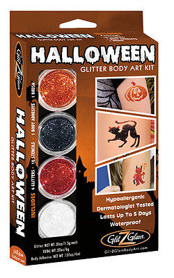 Halloween Glitter Tattoo Kit for Temporary Tattoos for the Holidays by GlitZGlam (Temporary Tattoos For Halloween)