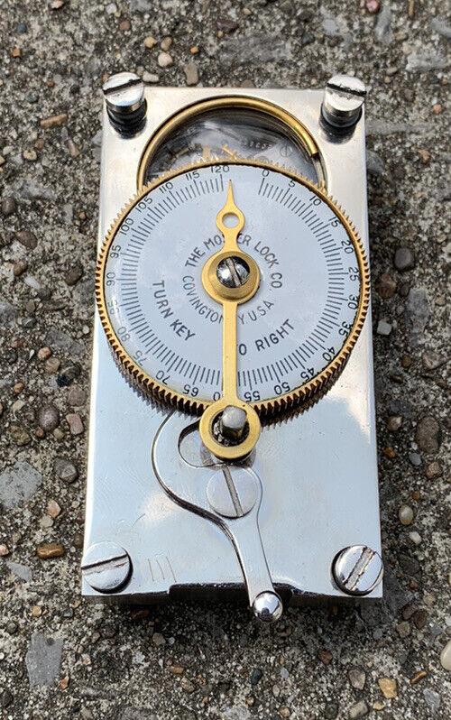 Vintage Mosler Time Action Lock 120 Hour Waltham Clock Movement Rare