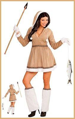 Eskimo Damenkostüm M 38/40 Fasching Karneval Nordpol Eskimodame - Eskimo Kostüme Damen