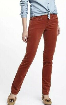 NWT Adriano Goldschmied AG Jeans The Stevie Ankle Cords Size 26 Petite Straight Ag Jeans, Cord Jeans