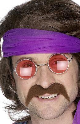 70er Jahre Schnurrbart braun NEU - Karneval Fasching Bart Verkleidung ()