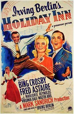 HOLIDAY INN Movie MINI Promo POSTER Bing Crosby Fred Astaire Marjorie Reynolds