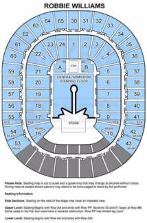 2x Robbie Williams tickets Melbourne 24 feb