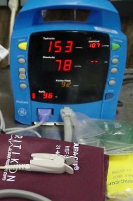 Ge Dinamap Procare 300 Patient Monitor Blood Pressure Nellcor Spo2 Nibp Recorder