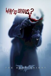 BATMAN THE DARK KNIGHT MOVIE POSTER ~ JOKER WHY SO SERIOUS? 24x36 Heath Ledger B