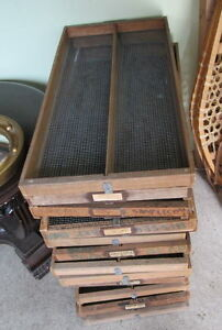 #greenspotantiques old wire mesh drawers, lots of... old tool ch Cambridge Kitchener Area image 1