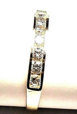 10KT PURE SOLID GOLD ADJUSTABLE CHANNEL SET CUBIC ZIRCONIA TOE RING....MUST SEE!