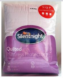 JOBLOT, Silentnight Kingsize Quilted Mattress Protector, BNIB, 5 for £20,