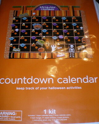 Halloween COUNTDOWN CALENDAR New OCTOBER Stickers DATES Events Pumpkins GHOSTS