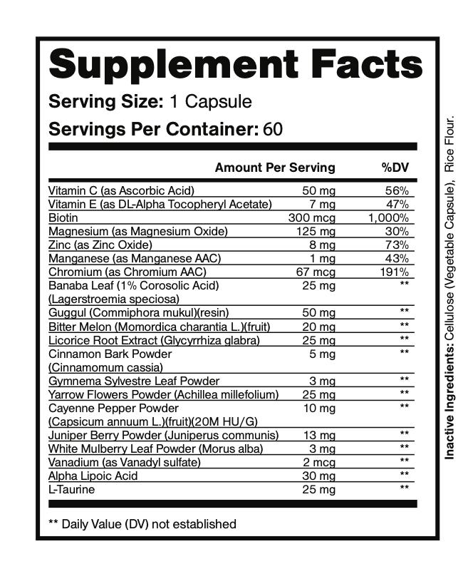Sugar Balance Vegetarian Supplement 60 Capsules  3