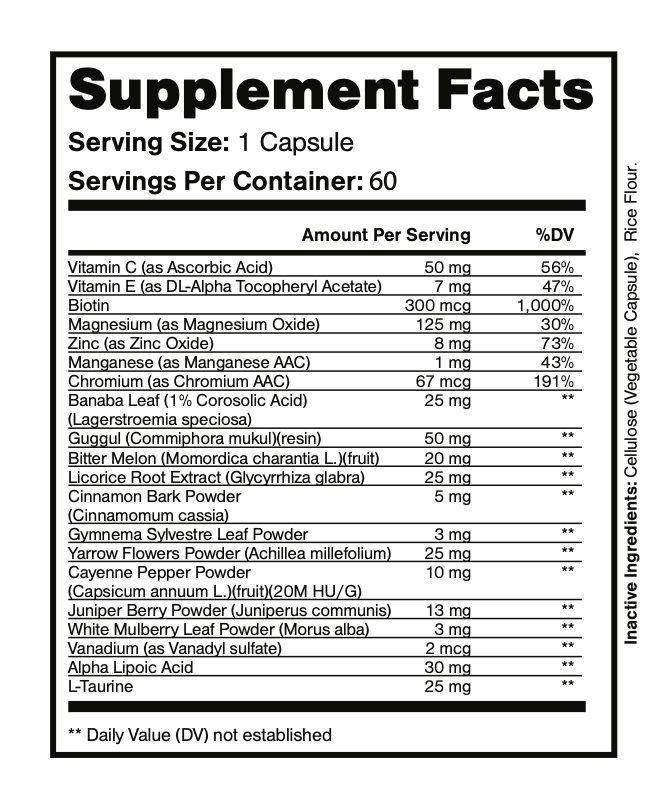 Ceracare Powerful Blood Sugar Support 60 Capsules  1