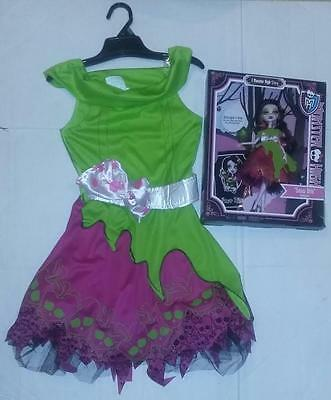 Ever After High Halloween Costume (Monster High Scarily Ever After Snow Bite Doll& Matching Girls Halloween)