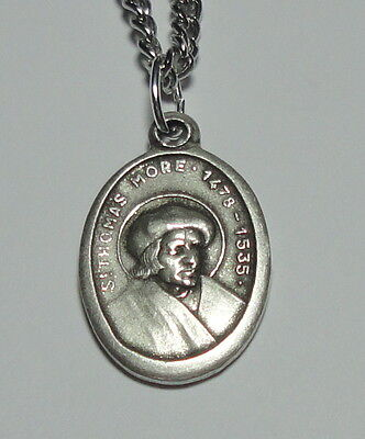 St Thomas More Holy Medal on Chain Lawyers Paralegals Clerks Adoptions Families