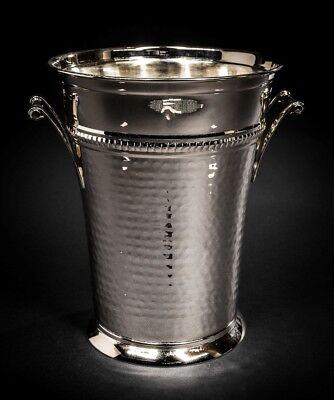 Elegant Brass Champagne Bucket - Hammered Wine Bottle Cooler - Large Ice Bucket