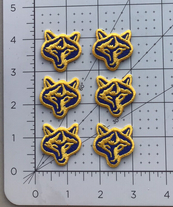 Lot Of Six (6) Boy Scouts Of America Wolf Cub Patches BSA