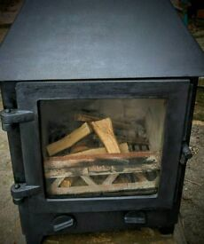Clearview woodburning stove 5kw matt black