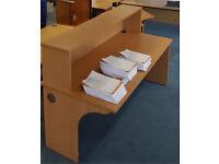 Reception desk with corner unit. Delivery.