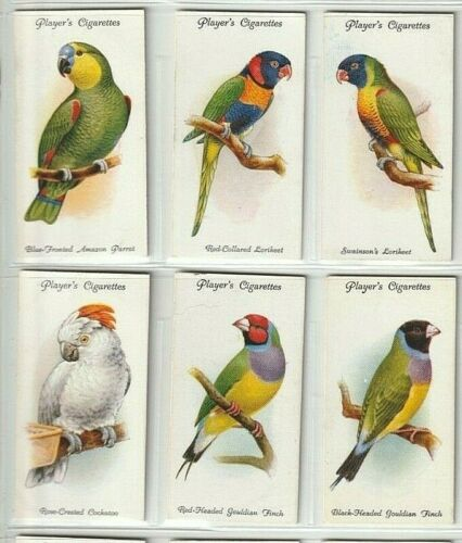 PLAYERS AVIARY AND CAGE BIRDS 1933, 50 ORIGINAL TOBACCO CARDS, FULL VG SET